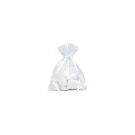 SACHET dragée 6 sacs ORGANDI blanc