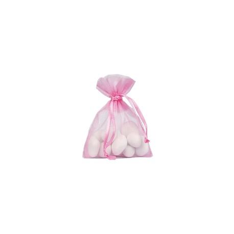 SACHET dragée 6 sacs ORGANDI fushia