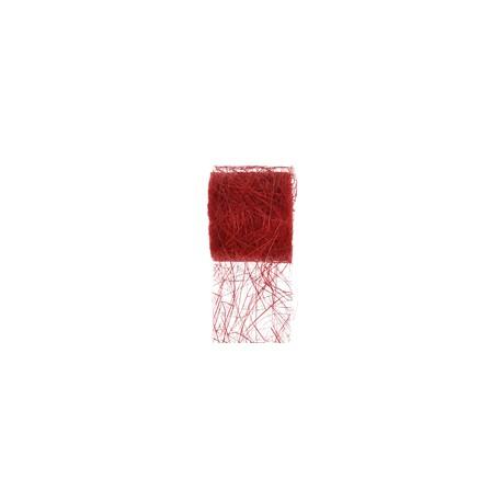 RUBAN ABACA 7CMX5M rouge