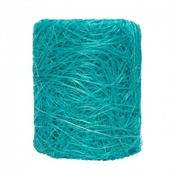 RUBAN ABACA 7CMX5M turquoise claire