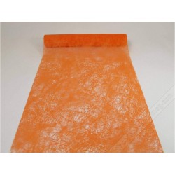 CHEMIN DE TABLE ROMANCE orange 30CMX10M
